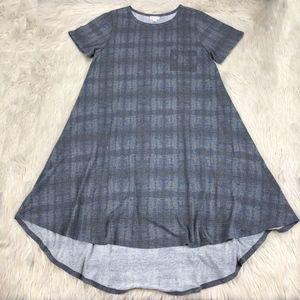 LuLaRoe Gray Plaid Carley Dress